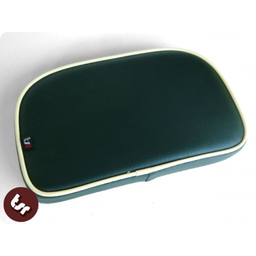 VESPA/LAMBRETTA TSR Rear Rack Back Seat Pad Dark Green/Cream