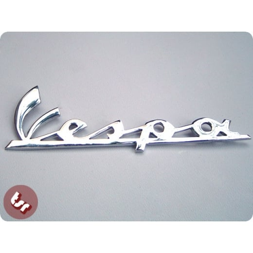 VESPA Legshield Badge Smallframe SS50 SS90 Chrome 90ss
