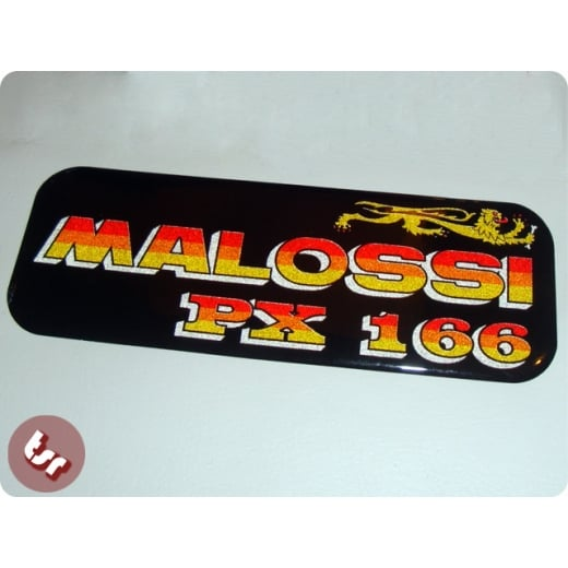 VESPA Metalflake 3D Malossi P166 Legshield/Panel Badge PX 125 Custom Badge