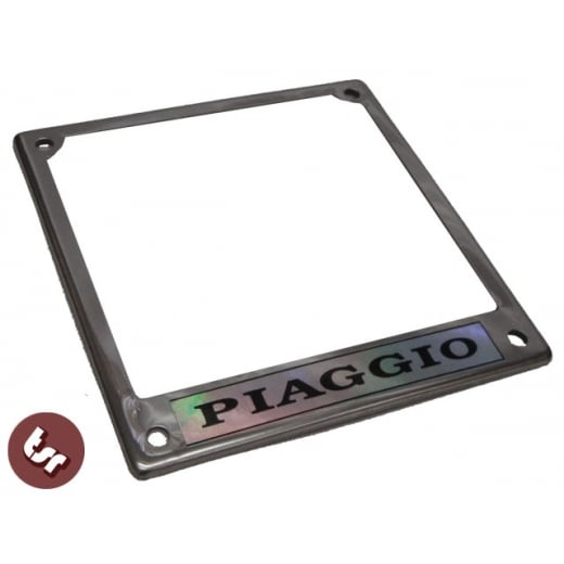 VESPA Number Plate Surround/Trim Surround Steel Piaggio Logo Sprint/VBB/PX