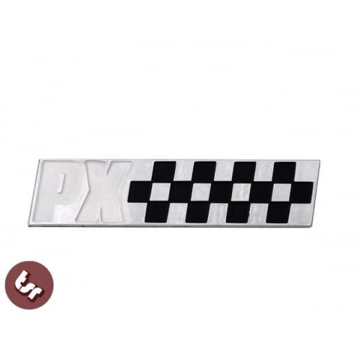 VESPA PX Billet CNC Side Panel/Legshield Badge/Emblem Chequered Race Flag
