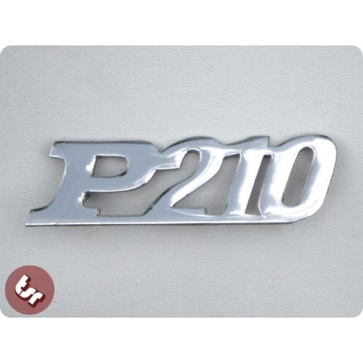 VESPA PX Chrome Side Panel/Legshield Badge P210 Malossi/Polini P 200 Tuning
