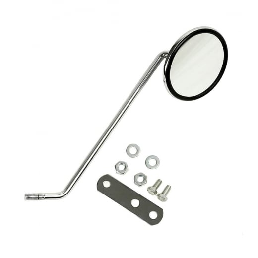 VESPA PX/LML Chromed Left Hand Side Mirror With Brackets/Fixings