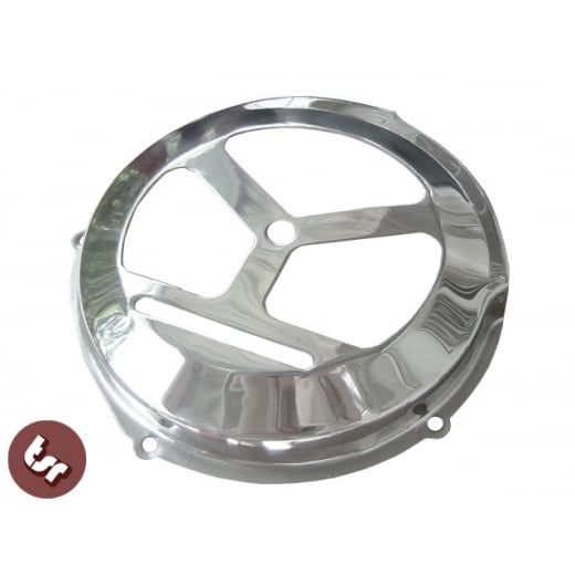 VESPA PX/LML Flywheel Cover GS Style in Stainless Steel