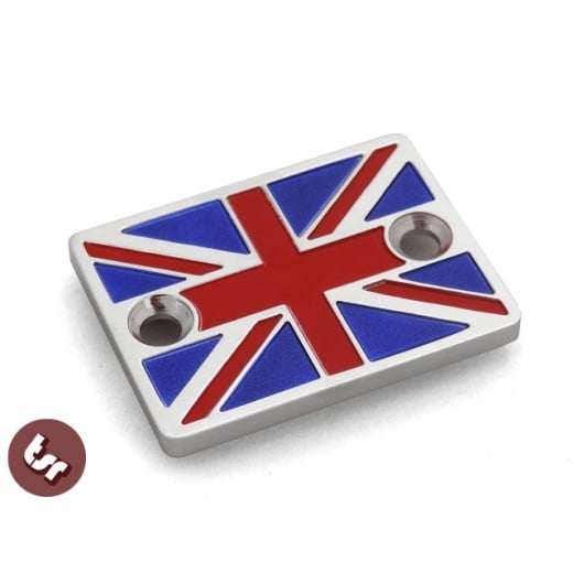 VESPA PX/LML/GTV Billet Union Jack Flag CNC Disc Brake Master Cylinder Cover