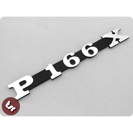 VESPA PX/LML Malossi Kit Billet CNC Legshield/Side Panel Badge/Emblem P166 X 166