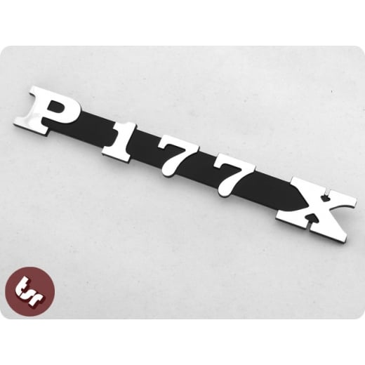 VESPA PX/LML Polini Kit Billet CNC Legshield/Side Panel Badge/Emblem P177 X 177