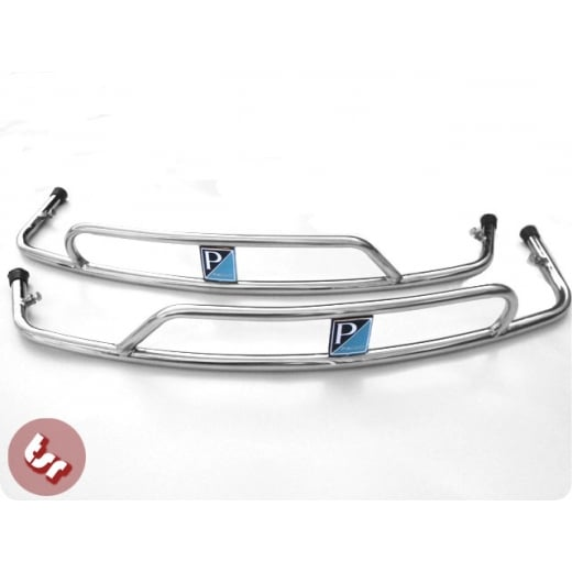 VESPA PX/LML Side Panel Stainless Steel Crash Bar+Badge