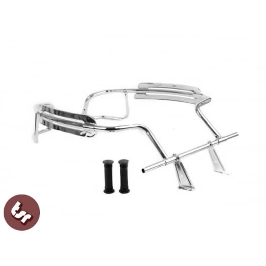 VESPA PX/LML Stainless Steel Chrome Finish Panel Florida Crash Bars Foot Rest