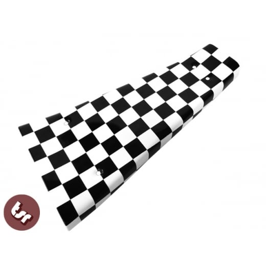 VESPA PX/LML/T5 Custom Centre Mat/Metal Floor Plate Custom Ska Chequered Flag