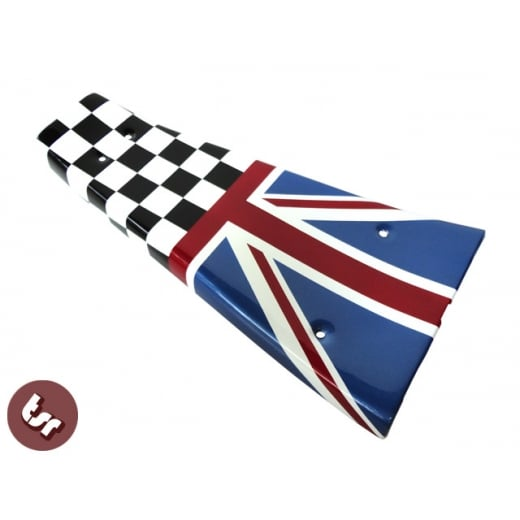 VESPA PX/LML/T5 Custom Centre Mat/Metal Floor Plate Union Jack/Race Flag