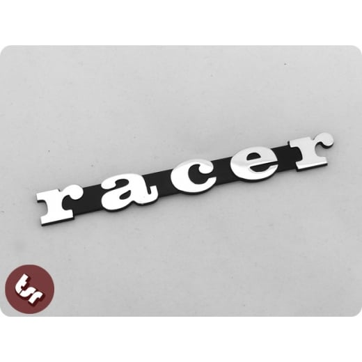 VESPA PX/LML/T5 Solid Billet CNC Legshield/Side Panel Badge/Emblem RACER 125/200
