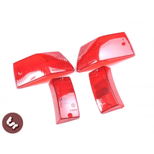 VESPA PX/T5/LML Custom Indicator Lens Kit - RED (X4 Pieces) light