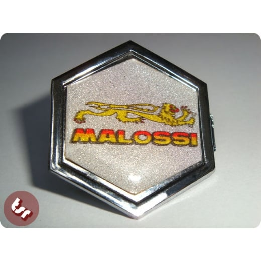 VESPA PX/T5/LML Horncast Badge Chrome Hexagon MALOSSI