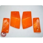 VESPA PX/T5/LML Indicator Lens Kit - Orange (X4 Pieces)