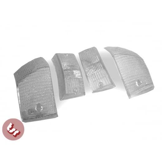 VESPA PX/T5/LML Indicator Turn Signal Lens/Lense Kit CLEAR Front/Rear 125/p 200