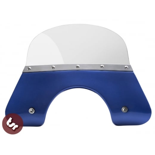 VESPA QUALITY TSR Blue Flyscreen PX/LML/T5 Stainless Fixing 125/200 Windshield