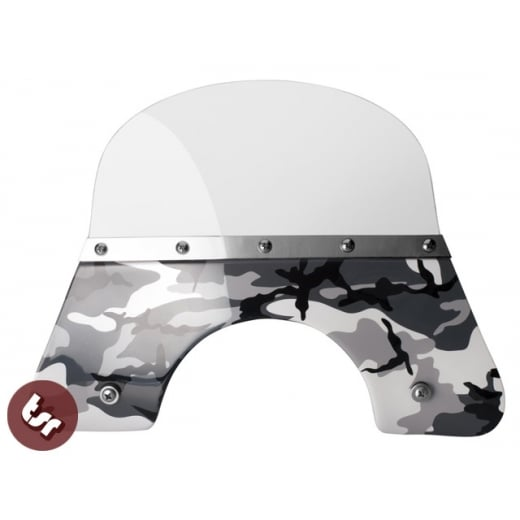 VESPA QUALITY TSR Camo Black/White Flyscreen PX/LML/T5 Stainless Fixings 125/200