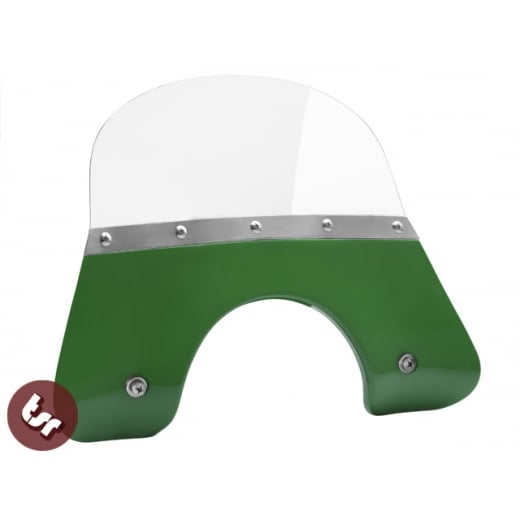 VESPA QUALITY TSR Green Flyscreen PX/LML/T5 Stainless Fixing 125/200 Windshield