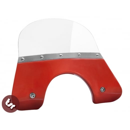 VESPA QUALITY TSR Orange Flyscreen PX/LML/T5 Stainless Fixing 125/200 Windshield