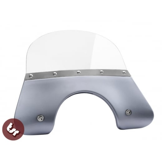 VESPA QUALITY TSR Silver Flyscreen PX/LML/T5 Stainless Fixing 125/200 Windshield