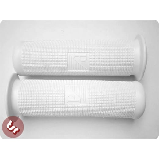 VESPA Rubber Hand Grips (Pair) 24mm White