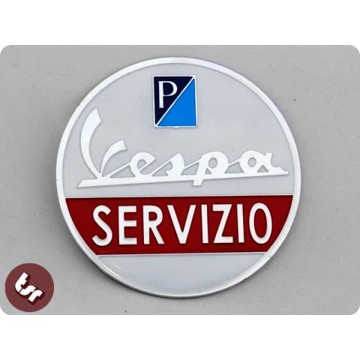 VESPA Servizio (service!)Billet CNC Side Panel/Legshield Badge/Emblem PX/LML/VBB