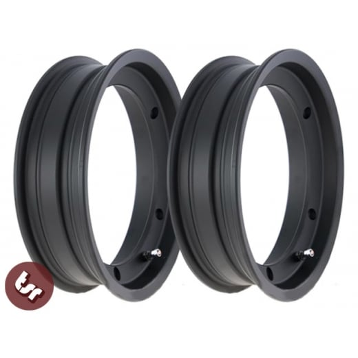 "VESPA SIP Tubeless 10"" Wheel Rim BLACK Alloy PX/T5 PAIR"