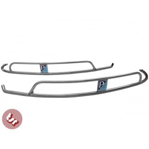 VESPA Sprint/Rally Side Panel Stainless Crash Bar+Badge