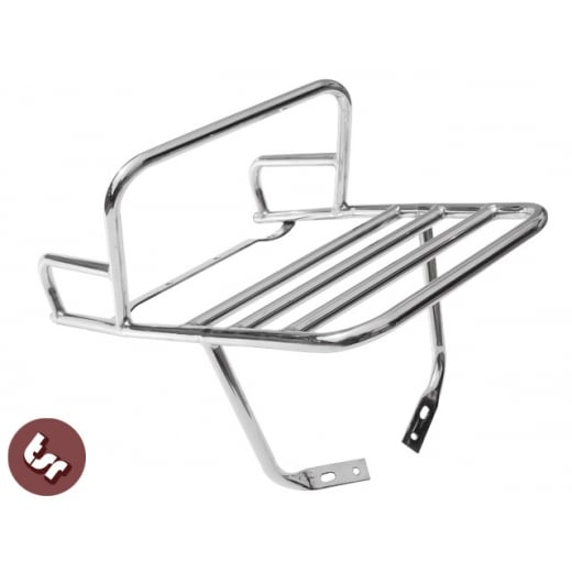 VESPA Stainless Rear Flat Rack/Beer Top Box Carrier/Grab Rail PX/LML