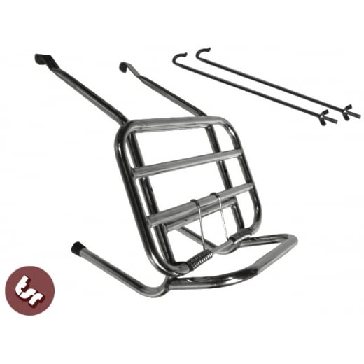 VESPA Stainless Steel Crashbar Compatible Long Front Rack Carrier PX/VBB/LML/ET3