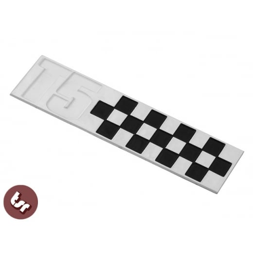 VESPA T5 Billet CNC Side Panel/Legshield Badge/Emblem Chequered Race Flag