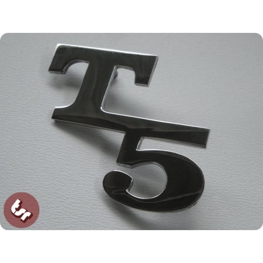 VESPA T5 Chrome Custom Side Panel/Legshield Badge