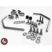 VESPA Top QUALITY TSR Flyscreen Stainless Steel & Nyloc Fixings Kit PX/LML