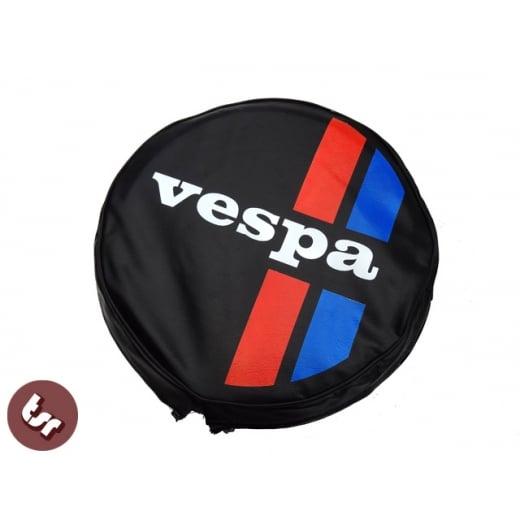 "VESPA TSR 10"" Spare Wheel Cover - Custom Stripes with Logo"
