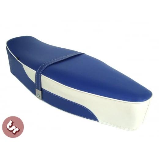VESPA TSR Bench Dual Seat Blue/White 2 Tone PX/LML/VBB/Sprint