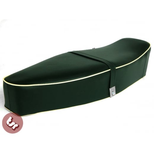 VESPA TSR Bench Dual Seat Dark Racing Green/Cream PX/LML/VBB/VLB