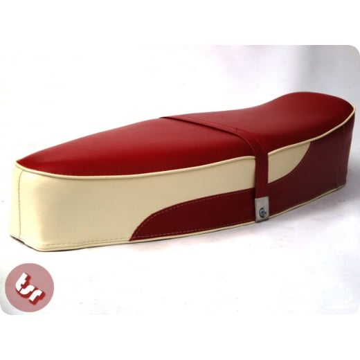 VESPA TSR Bench Dual Seat Oxblood Red/Cream PX/LML/VBB