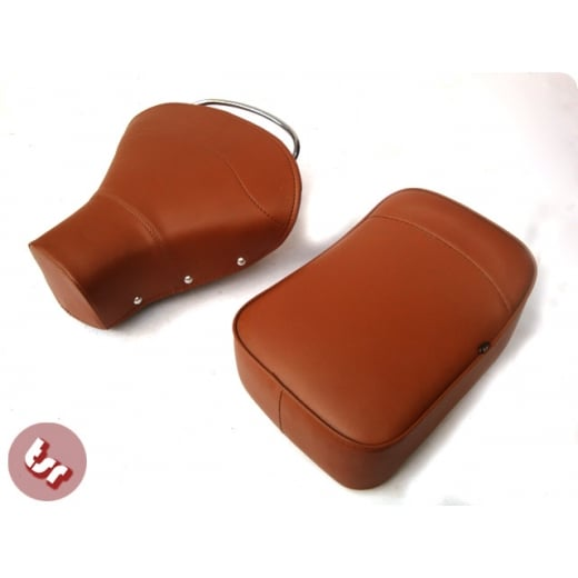 VESPA TSR Front Saddle Rear Seat Set Brown PX/VBB/VLB