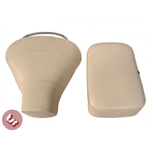 VESPA TSR Front Saddle Rear Seat Set Cream PX/VBB/VLB