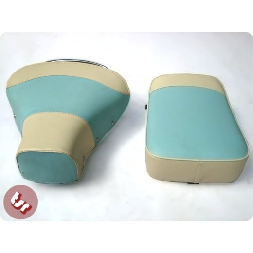 VESPA TSR Front Saddle with Rear Seat Baby Blue Cream 2 Tone VBB/PX/SPRINT