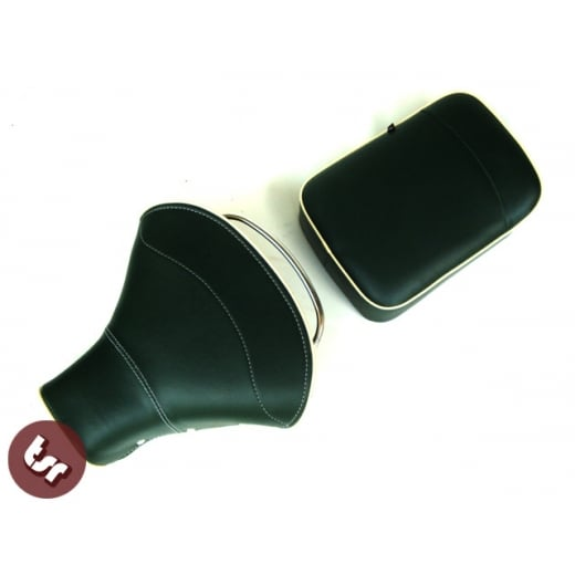 VESPA TSR Front Saddle with Rear Seat Dark Green/Cream VBB/PX/SPRINT