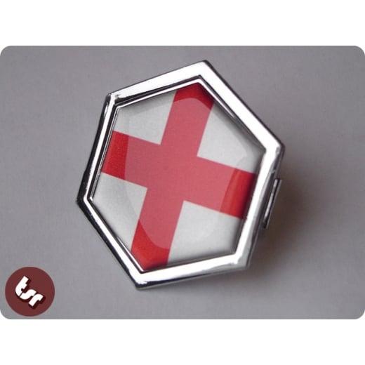 VESPA TSR Horncast Hex Clip Badge PX/LML England Flag