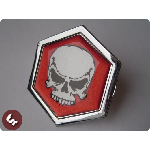 VESPA TSR Horncast Hex Clip Badge PX/LML SKULL/hot rod