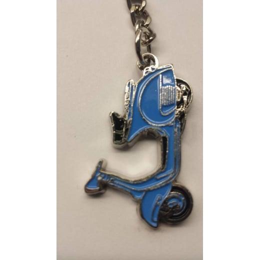 VESPA VBB Scooter Key Ring Blue