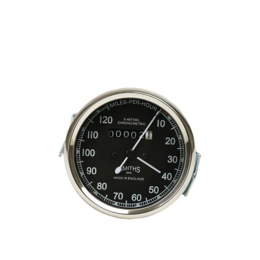 VINTAGE SMITHS 0-120 MPH Black Speedometer ROYAL ENFIELD BSA NORTON