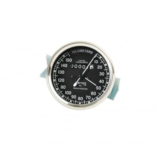 VINTAGE SMITHS 0-150 KPH Black Speedometer ROYAL ENFIELD BSA NORTON