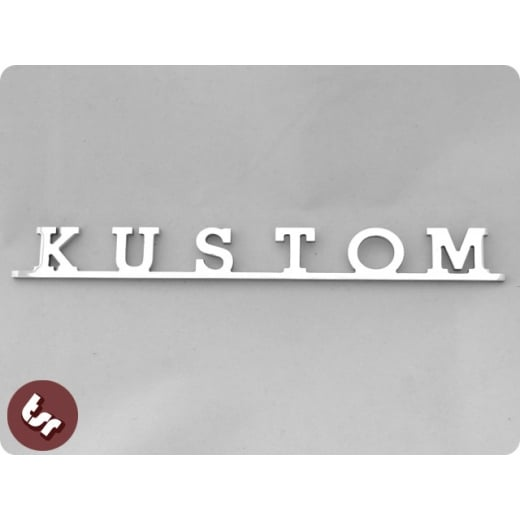 Volkswagen KUSTOM Camper Van Type 2 VW Bus Kombi Billet Badge/Emblem T2 Custom